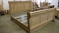 Classic sleigh bed plans - Woodworking Challenge Boat Bed, Sleigh Beds, Bed Plans, Wooden Beds, Woodworking, How To Plan, Storage, Classic, Challenge
