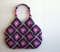 Crochet granny square bag $110