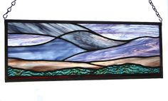 Abstract stained glass panel of the sunrise by SolarResonance, $120.00