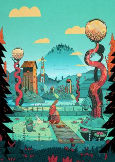 KATARAKT!'s world by L'Encre Blanche, via Behance