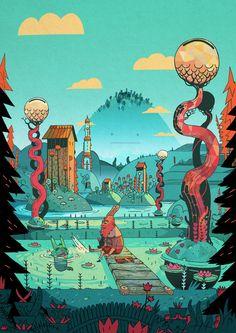 KATARAKT!'s world by L'Encre Blanche, via Behance