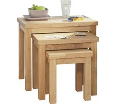 Buy HOME Gloucester Nest Of 3 Solid Wood Tables