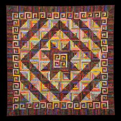 Summer Lake Log Cabin from the pattern in Judy Martin's Log Cabin Quilt Book. Quilt Guild Info | Quilting on the Waterfront