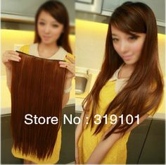 Free shipping-5 clip-in hair extension straight synthetic clips hair 1pc for full head -BIG SALE $6.00