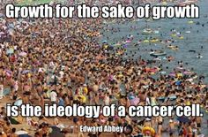 Growth for the sake of growth is the ideology of a cancer cell.