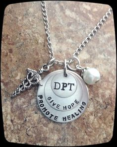 Ideas for a tattoo one day! Physical Therapy Jewelry DPT PT PTA Physical by ThatKindaGirl, $26.00