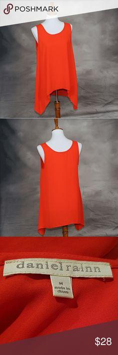 Stitch Fix Daniel Rainn sleeveless orange blouse Stitch Fix Daniel Rainn sleeveless bright orange blouse. Medium. Long front sides. Excellent condition. Daniel Rainn Tops Blouses