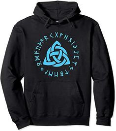 Vikings Norse Mythology Celtic Knot Symbol Pullover Hoodie by Scar Design. Shop your early this year on store. Christmas Gifts For Men, Best Gifts For Men, Bachelor Gifts, Valentines Gifts For Him, Triquetra, Norse Mythology, Design Shop, Celtic Knot, Vikings