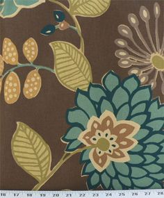 Rowland Teal | Online Discount Drapery Fabrics and Upholstery Fabric Superstore!
