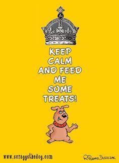 Keep Calm and feed me some treats