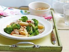 Penne mit Broccoli und Poulet