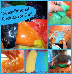 Senseational  Recipes for Fun! at PreK+K Sharing via Amy Ahola