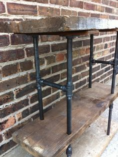 Coffee CART! Reclaimed Wood and Pipe Shelving Unit by minthome on Etsy, $275.00