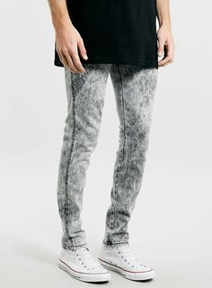 Dr Denim Snap Grey Ice stretch slim jeans.