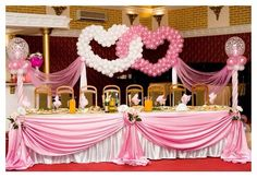Wedding balloon decor #wedding #heart #balloon #decor #decoration #sculpture