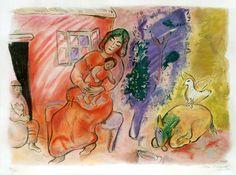 Marc Chagall  ~ Maternity 1954