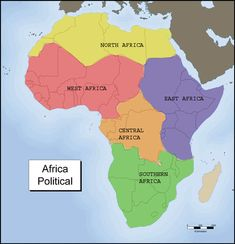 Five region of africa | Map Two: Five Regions of Africa