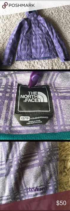 The North Face Tri-Climate Winter Parka Purple plaid jacket outside works as the perfect wind barrier for fall, winter, and spring as it's also water repellent. It also has a pocket for your glasses and a cloth for cleaning them and a ton of pockets. The the blue plaid and teal jacket is reversible and removable for a lighter but warm layer. There are signs of wear on both jackets such as pilling and wear on the ends of the sleeve. The North Face Jackets & Coats Puffers