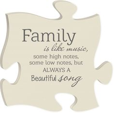 Family Quote Puzzle Piece