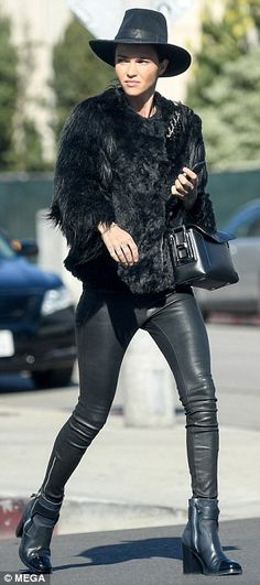 Fashion forward: Ruby Rose, 33, steps out for lunch in Los Angeles in an all black ensembl...