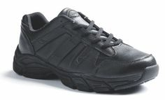 Dickies Footwear Men's VENUE II Black Sneakers 13 W. Removable & breathable memory foam insole. Fully lined w/moisture wicking performance fabric. Spill resistant w/polishable leather upper & padded collar and tongue. Oil & slip resistant rubber outsole. Variation: Size - 13 2E US. Channeled liquid dispersing outsole design for maximum slip resistant performance.