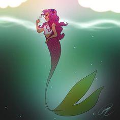 MerMAY is almost over . . . #art #apple #artist #artistoninstagram #draw #drawing #paint #painting #illustration #digital #digitalart #pretty #beauty #beautiful #sketch #mermaid #fantasy #fantastic #face #cute #bird #sea #creative Mythical Creatures, Sea Creatures, Merman, Merfolk, Mermaid Art, Mermaid Parties, Beach Pictures, The Little Mermaid, Drawing Tips