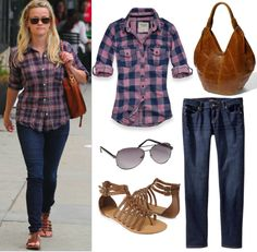 Reese Witherspoon casual clothes.