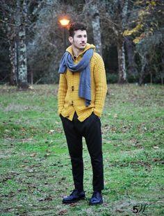 #man #fashion #yellow #outfit