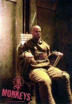 "Bruce Willis en ""12 Monos"" de Terry Gilliam."