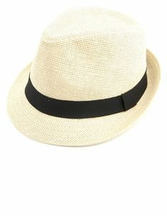 Banded Straw Fedora Hat.  I really want one!!!