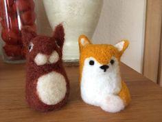 Fuchs und Eichhörnchen gefilzt