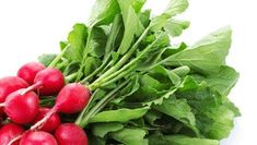 5 recipes for radish leaves is part of Recipes For Radish Leaves Mnn Mother Nature Network - When you get a bunch of radishes do you toss the greens Stop it They're edible and tasty Recipe For Radish Greens, Radish Leaves Recipe, Radish Recipes, Radish Ideas, How To Cook Radishes, Health Benefits Of Radishes, Fruits And Veggies, Vegetables, 5 Recipe