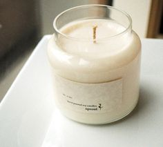 Clean Cotton Soy Candle  16 Ounce Apothecary by sproutcandleshop, $15.00