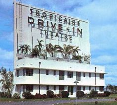 image of the Tropicaire Drive-In movie theater in Dade County, Florida. Vintage Florida, Old Florida, Miami Florida, South Florida, Miami Beach, Downtown Miami, Florida Keys, Arcade, Costa