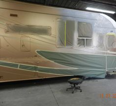 ... to a layout and paint scheme, Get your signature for the go ahead and we are off most complete RV paint jobs take three weeks from start to finish.