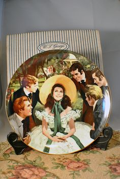 Gone With the Wind Vintage Collectable Plate by W.S. George - Scarlett and her suitors. $30.00, via Etsy.