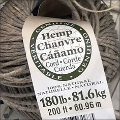 In many retail channels rope and twine merchandising is minimal, offered to satisfy only the most basic needs. Can Am, Money Cards, Gift Vouchers, Gift Certificates, Twine, Hemp, Hooks, Minimal, Basket