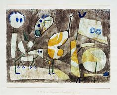 Paul Klee  'Ungeheuer in Bereitschaft'(Monster in Readiness [my own attempt at translation g.s.]) 1939