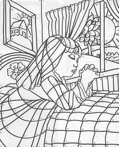 Lords Prayer, : Lords Prayer Before Bedtime Coloring Page
