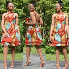 It certified African print fashion is here to stay. Somewhere in 2013 when we were pushing to make it trendy, a designer once told us that African prints are African American Fashion, African Print Fashion, Africa Fashion, African Prints, African Wear, African Women, African Dress, Simple Short Dresses, Trendy Ankara Styles