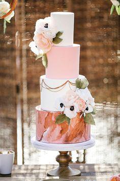 Watercolor wedding cake
