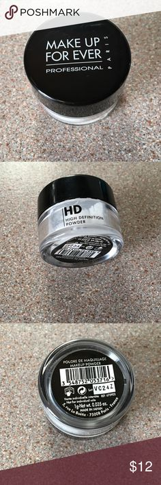 MUFE HD Powder. NEW! MUFE HD Finishing Powder. New & Authentic. It's sealed. This is a travel size product. It's .035 oz. No trades. Thanks MUFE Other