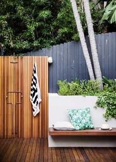 Indulgent yet oh-so-practical, outdoor showers are becoming increasingly popular features, especially for homes near the beach | Home Beautiful Magazine Australia