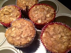 Pineapple Grass: Apple Oatmeal Muffins (could make these egg/dairy free)