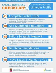awesome la checklist de la présence dans Linkedin pour les TPE via Small Business L...