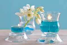 """Clearly Creative Ultimate Votive Pair - So many ways to use! Two glass cups and two dishes that stand alone or combine in several ways to hold a tealight or votive, sold separately. Cup: Dish: ¾""""h, by PartyLite Unique Graduation Gifts, Website Sign Up, Candles Online, Deco Floral, Candle Lanterns, Candels, How To Introduce Yourself, Creative, Event Planning"""