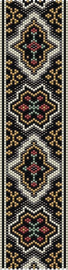 Odd Count Peyote Stitch Bracelet Pattern Digital Download