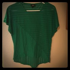 Green blouse Green blouse with small holes Mossimo Supply Co Tops