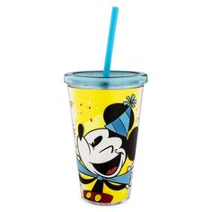 Disney Parks Celebrate Mickey Tumbler with Straw Cup With Straw, Tumbler With Straw, Mickey Shorts, Gift Subscription Boxes, Resort Logo, Dog Pajamas, Acrylic Tumblers, Disney Sketches, Mickey And Friends