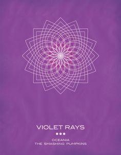 Violet Rays - The Smashing Pumpkins 'Oceania' Art Print